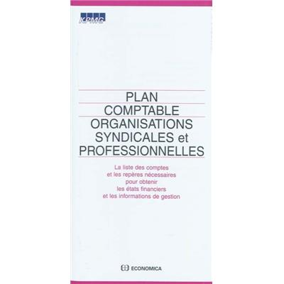 Plan comptable organisations syndicales